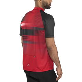 Löffler Track Bike Shirt Half-Zip Herren rot